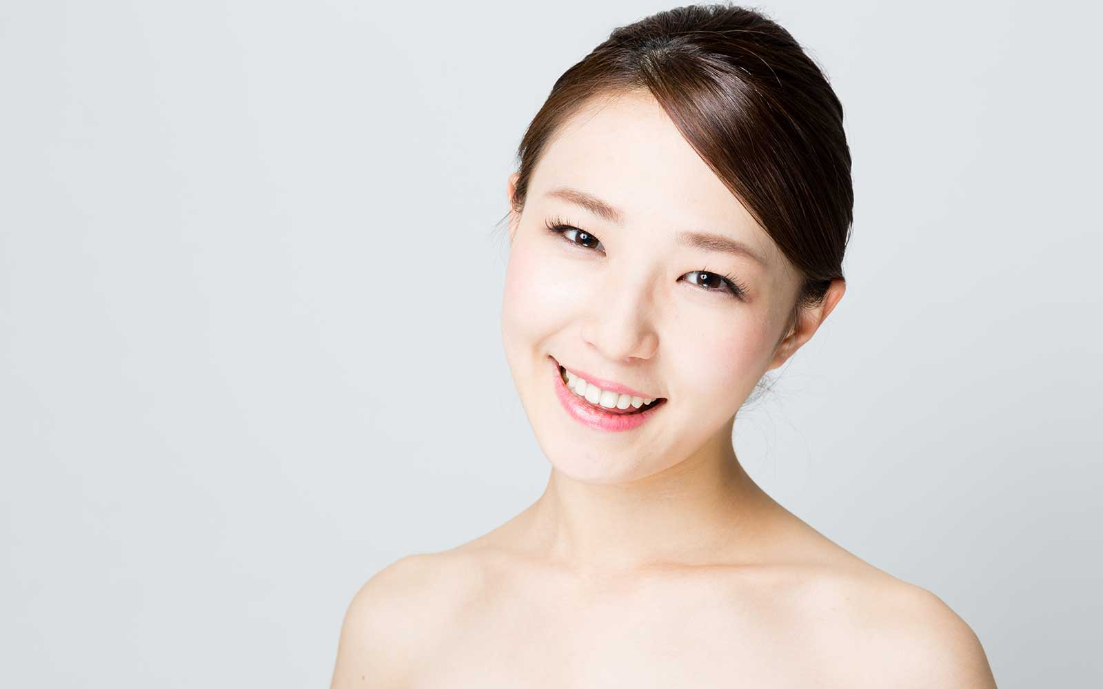 young woman clean skin